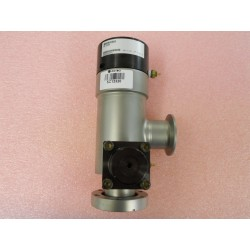 High-Vacuum Right Angle Two-Stage Pneumatic Valve