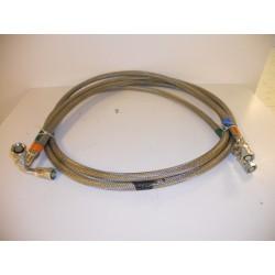 SET OF 2 CRYO LINE PRESSURIZED STAINLESS STEEL BRAID HOSE