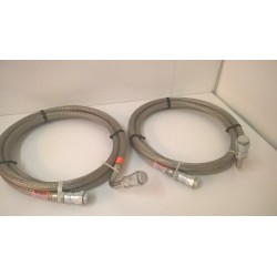 CRYO LINE PRESSURIZED STAINLESS STEEL BRAID HOSE Supply and Return Line 10 ft