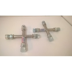 SET OF 2 Cryo Helium Cross fitting